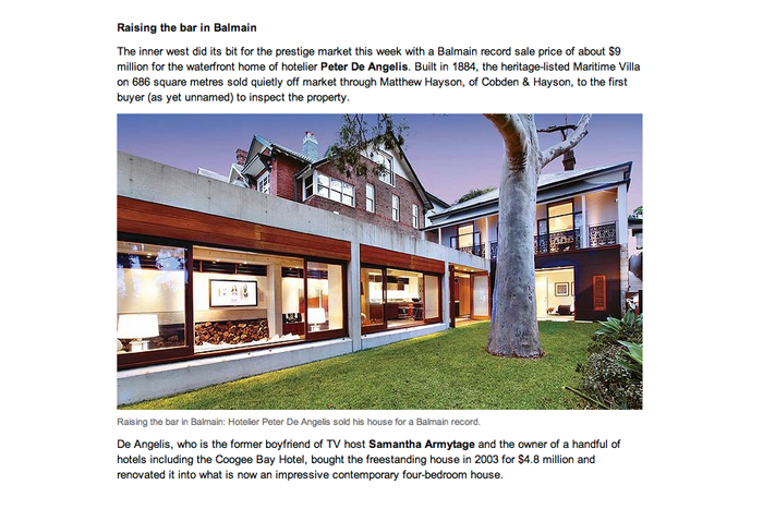 Balmain House SMH